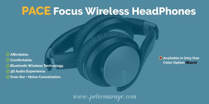 PACE Focus Bluetooth Headphones